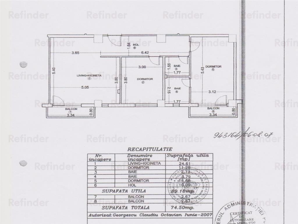 Vanzare apartament 3 camere Bucurestii Noi  Sos Chitilei, Bucuresti