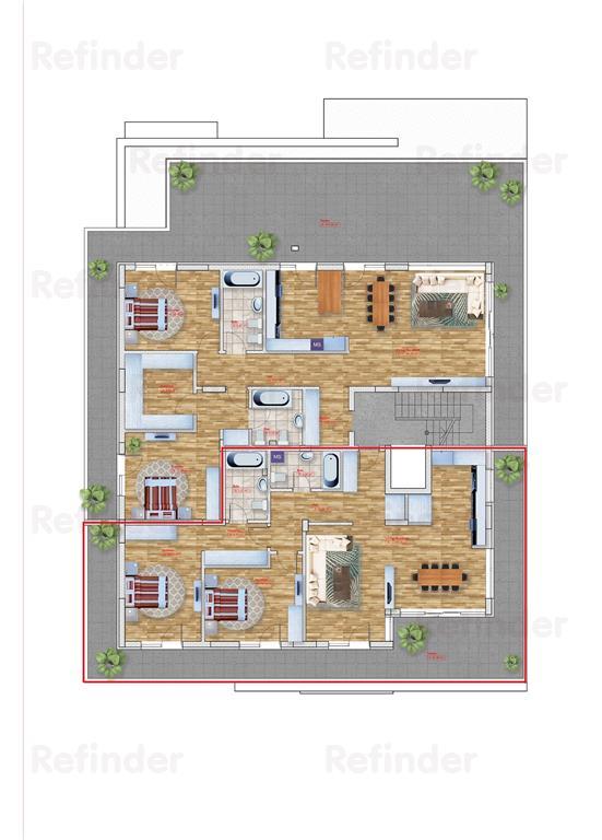 Vanzare penthouse 3 camere Pipera  Emil Racovita