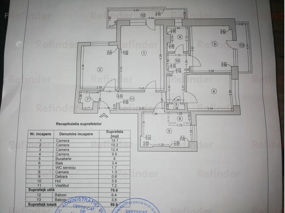 Vanzare apartament 4 camere Pantelimon