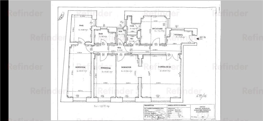 4 camere  Kiseleff  123 mp utili/Parcare & Boxa