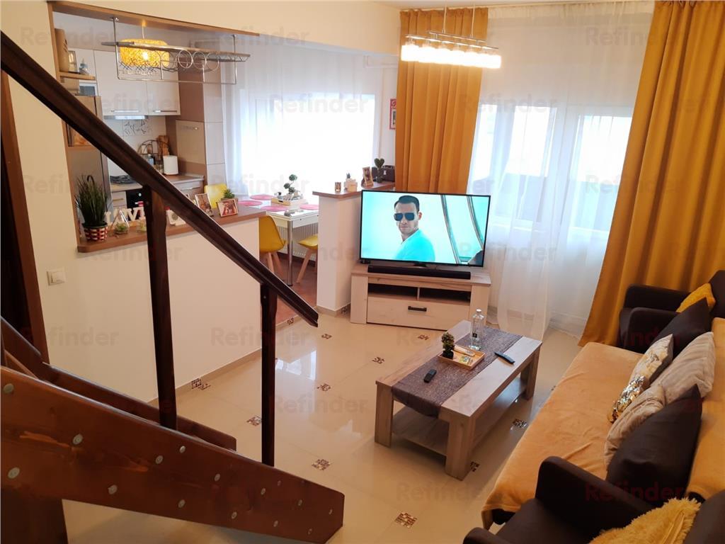 Vanzare apartament 3 camere tip duplex/mansarda Dristor | mobilat si utilat | centrala proprie