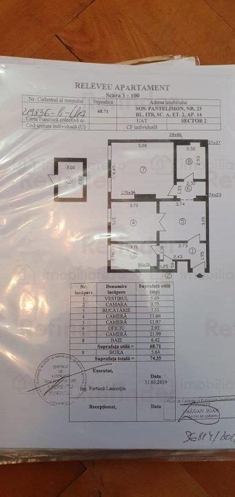 Vanzare apartament 3 cam. renovat ,zona linistita , spatiu verde , loc de parcare zona piata Obor