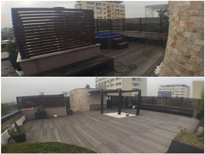 Penthouse de inchiriat 4 camere + terasa 160mp LUX