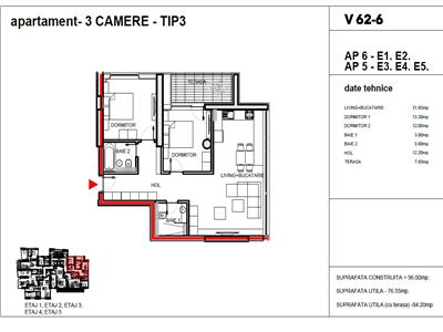 vanzare apartament 3 camere dacia - romana, bucuresti