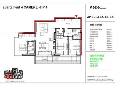 vanzare apartament 4 camere dacia - romana, bucuresti