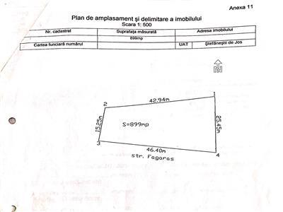 teren 899 mp | deschidere 46 ml la strada asfaltata| toate utilitatile | stefanestii de jos