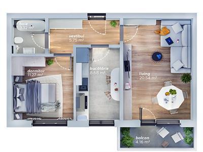 vanzare apartament 2 camere titan   bloc nou   loc de parcare Bucuresti