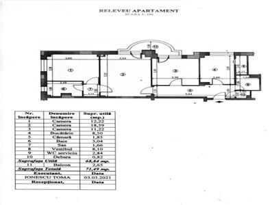oferta vanzare  apartament 3 camere, bdul 1 decembrie intersectie cu liviu rebreanu , 69mp utili, bloc 1987m 2 grupuri sanitare, loc de parcare Bucuresti