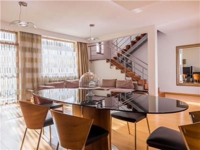 vanzare apartament 3 camere tip duplex ultralux herastrau | mobilat si utilat | 2 locuri de parcare Bucuresti