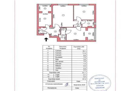 oferta! apartament 3 camere, stradal, constantin brancusi potcoava, vav p\arc ior, 2 bai, 68mp, bine ingrijit Bucuresti