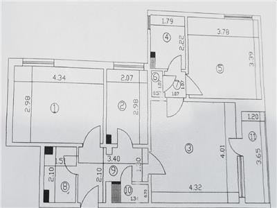 OFERTA APARTAMENT 3 CAMERE, TitanL Rebreanu, etaj 2/10, bloc reabilitat, 68mp, 2 grupuri sanitare, liber.
