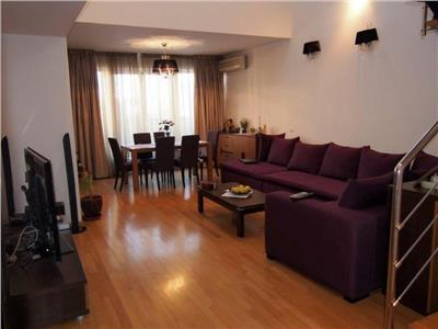 Vanzare apartament tip duplex Herastrau | mobilat si utilat | 2 locuri de parcare si boxa