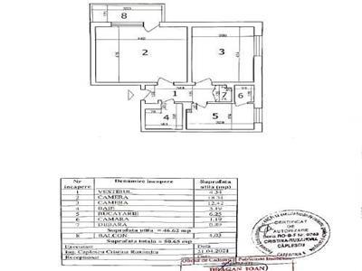 OFERTA VANZARE APARTAMENT 2 camere, Bd N Grigorescu, decomandat, 8/10, orientare Sud, 51mp utili, liber.