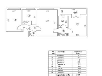 oferta vanzare apartament 3 camere, titan-parc ior, bloc 4 nivele, anvelopat,etaj 3, 60mp, curat,liber. Bucuresti